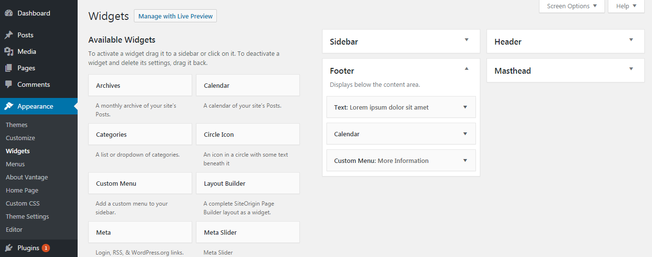How to Create and Manage Footer
