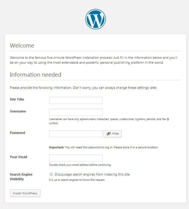 welcome WordPress