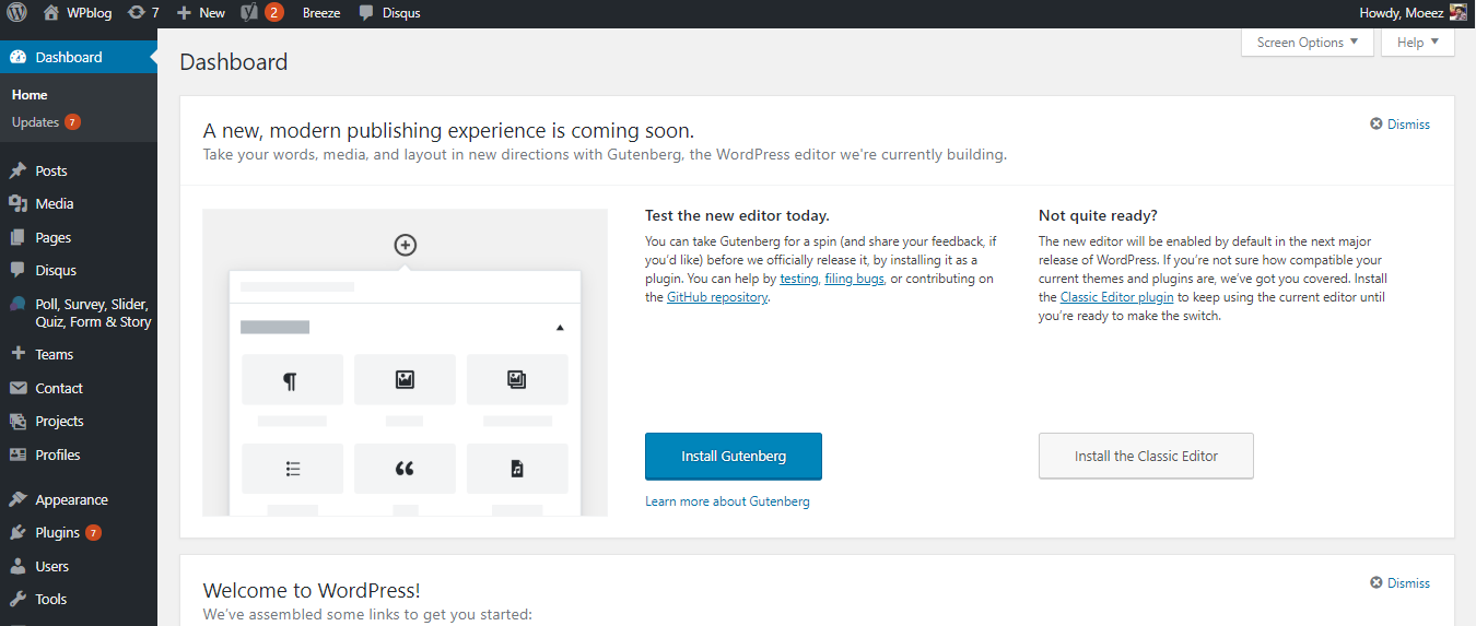 beginners guide to wordpress website