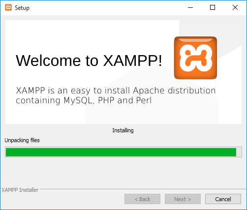 click Next and wait for XAMPP