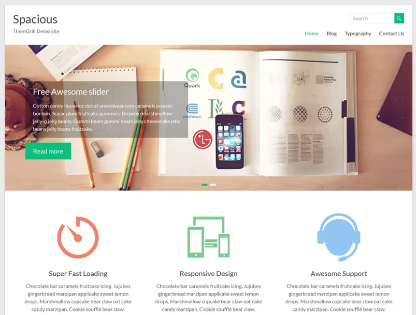 Spacious Theme for WordPress