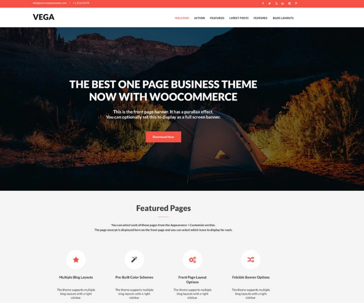 Minimalist Vega Theme for WordPress