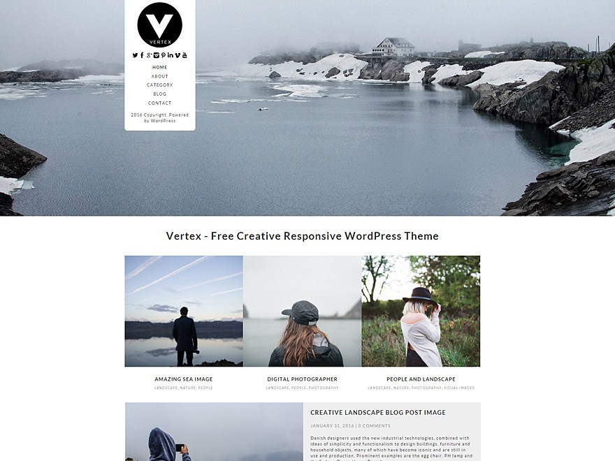 Vertex Responsive WordPress Theme