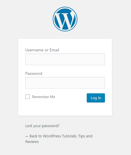 log in to your wordpress dashboard