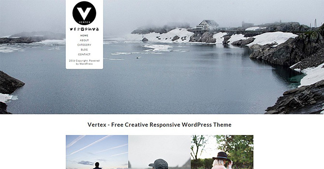Vertex Free Responsive Theme By Dessign