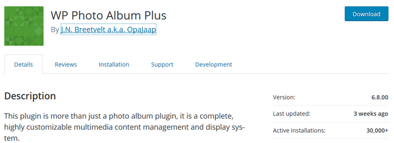 wp photo album plus WordPress Gallery Plugin