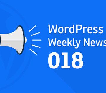 WordPress Weekly News 018: WordPress 4.8, WordCamp and much more