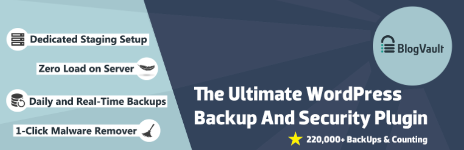 BlogVault top Backup WordPress Plugin
