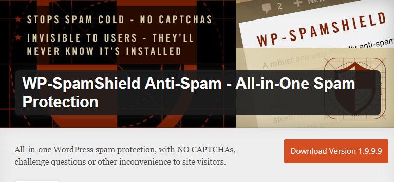 WP-SpamShield Anti-Spam plugin