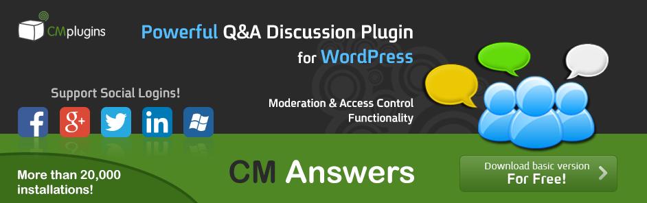 CM Answers forum plugin for wordpress