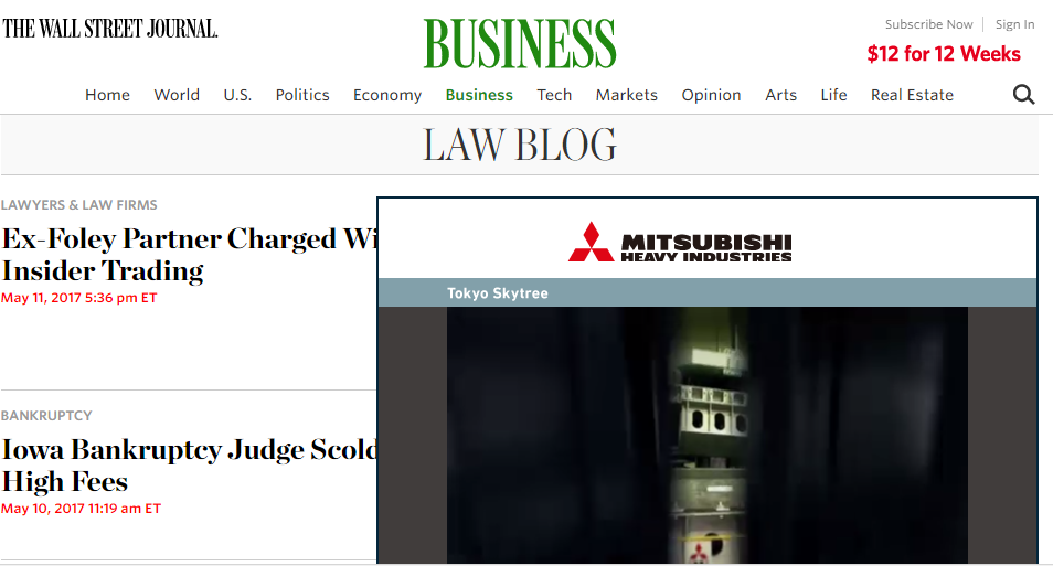 Wall Street Journal Law Blog