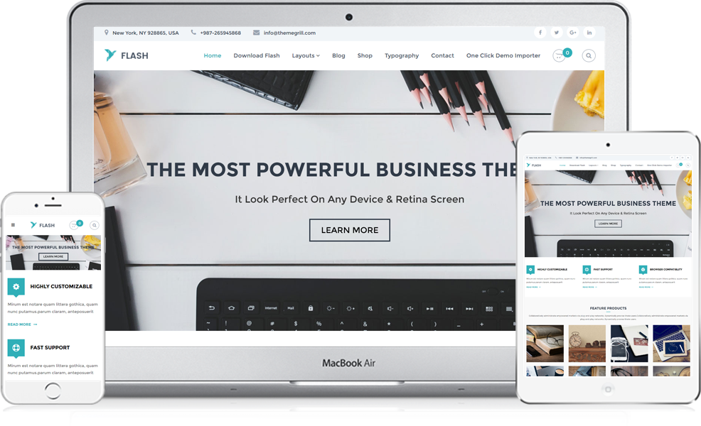 Flash WooCommerce WordPress Theme