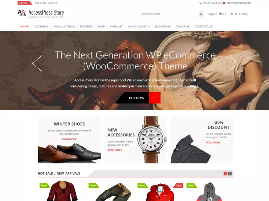 AccessPress Store woocommerce theme