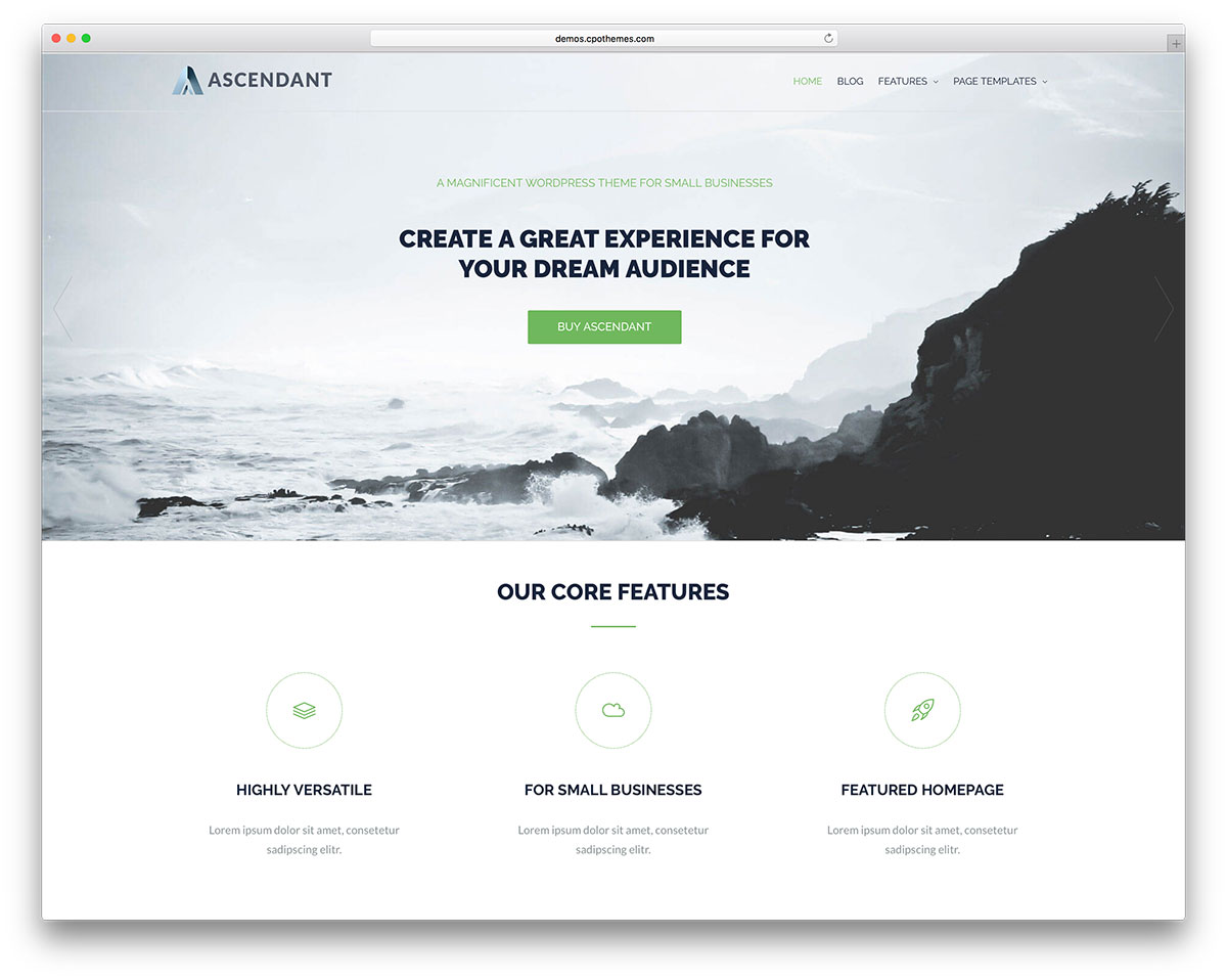 Ascendant best theme for Woocommerce