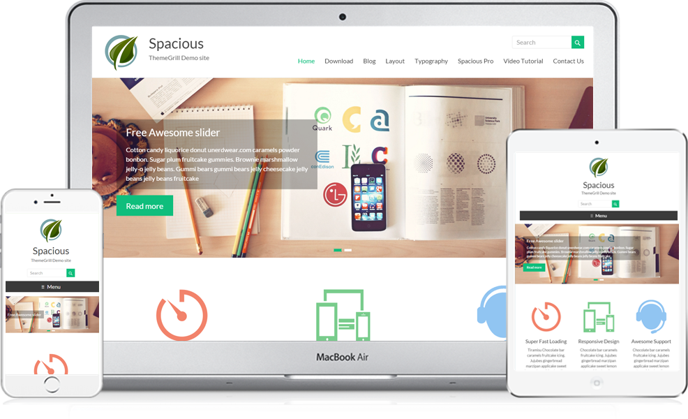 Spacious top woocommerce theme