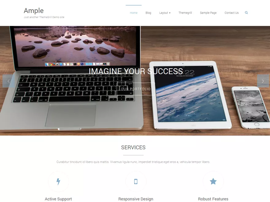 Ample woo commerce theme