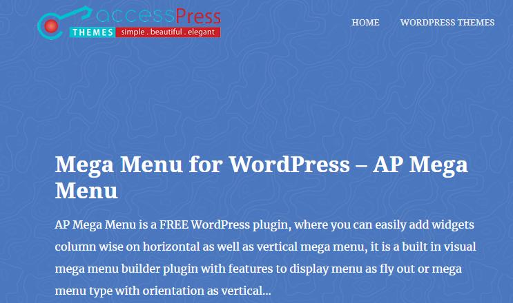 AP Mega Menu WordPress Plugin