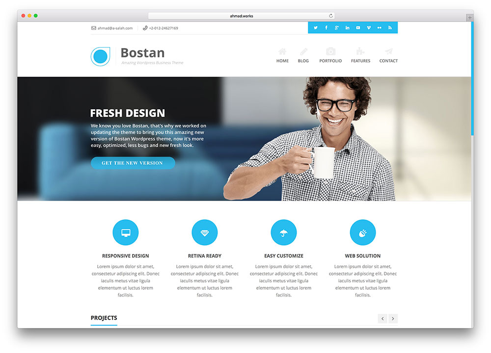 Bostan business wordpress theme