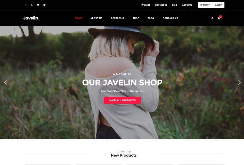 Jevelin wordpress theme for business website