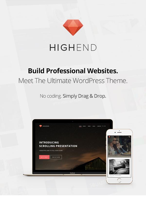Highend Business WordPress theme