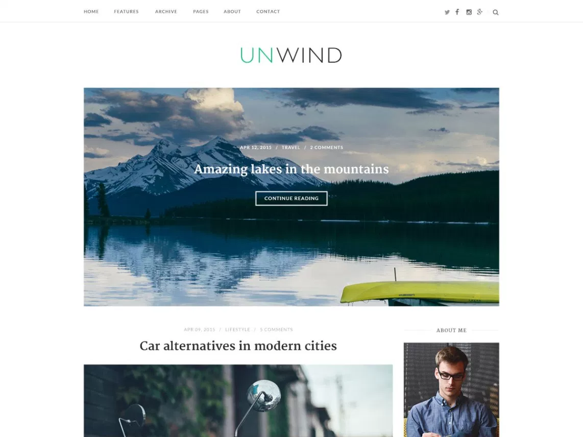 SiteOrigin Unwind theme