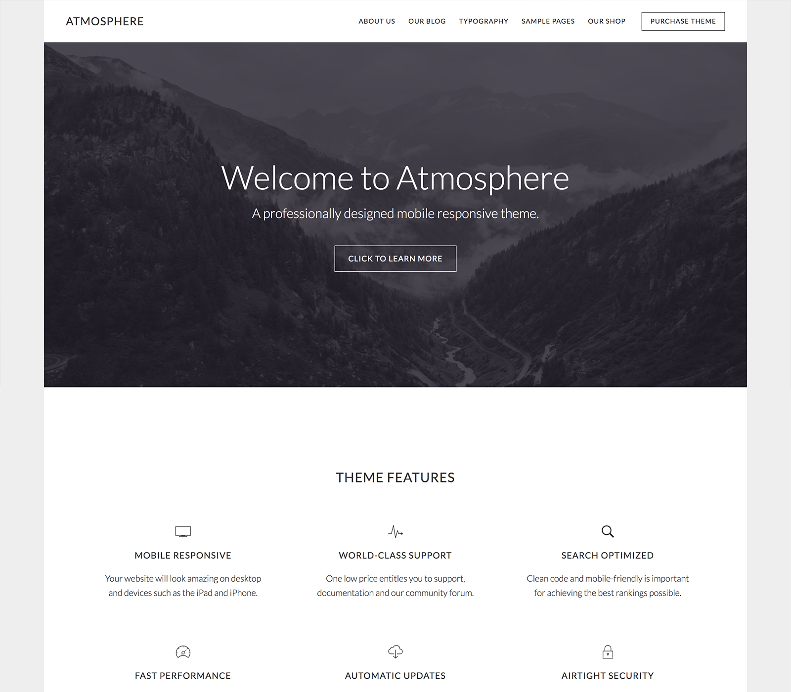 Atmosphere Pro wordpress themes for business