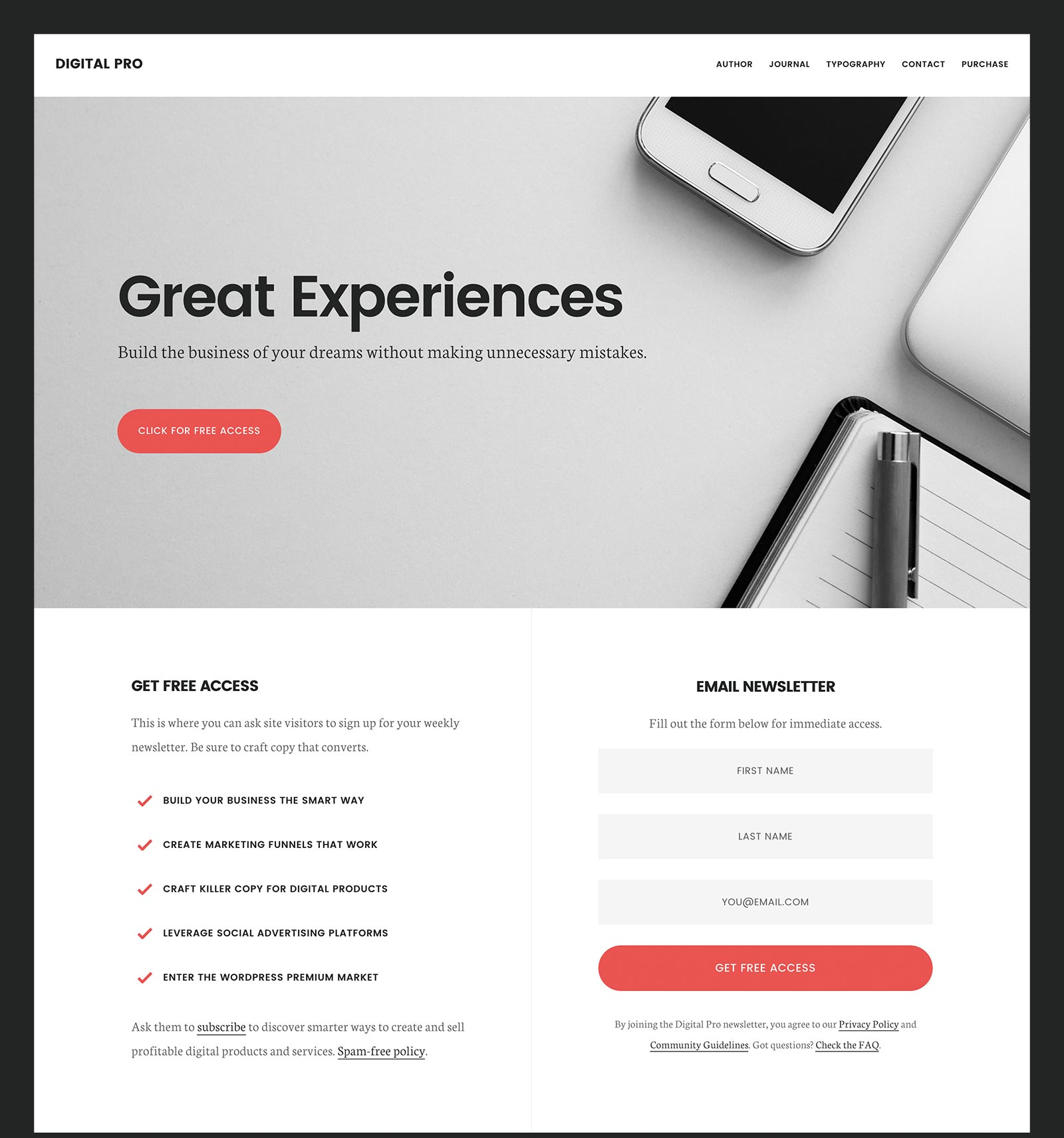 Digital Pro premium business wordpress themes