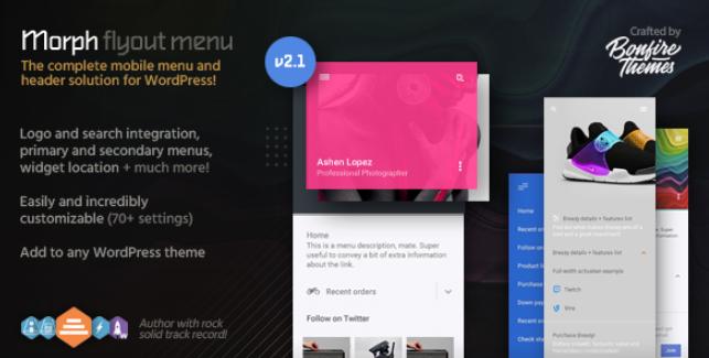 Morph Mega menu WordPress Plugin
