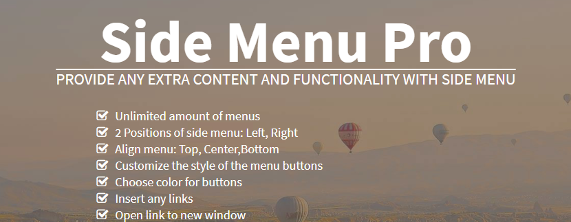 Side Menu Pro Plugin For WordPress