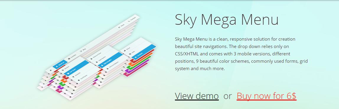Sky Mega Menu Plugin