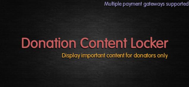Donation Content Locker WordPress donation plugin