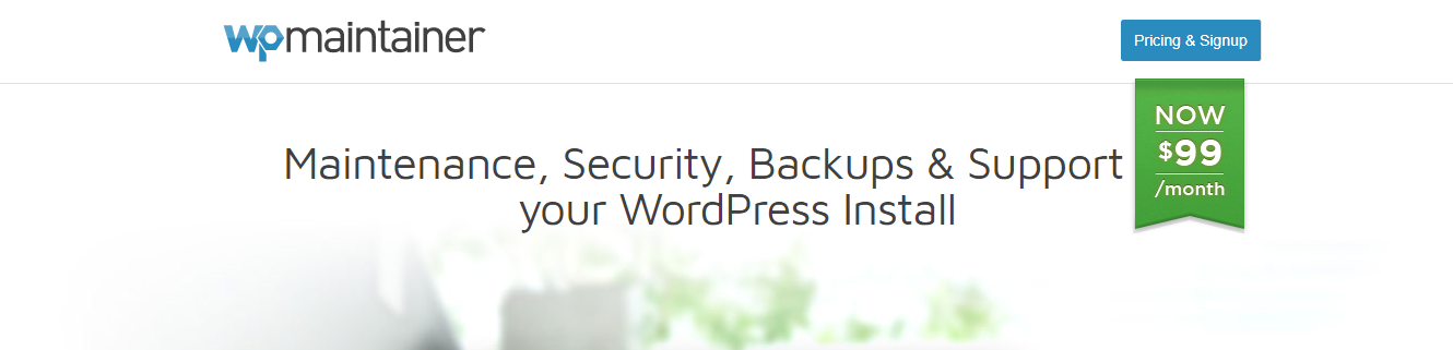 WP Maintainer the WordPress maintenance service provider