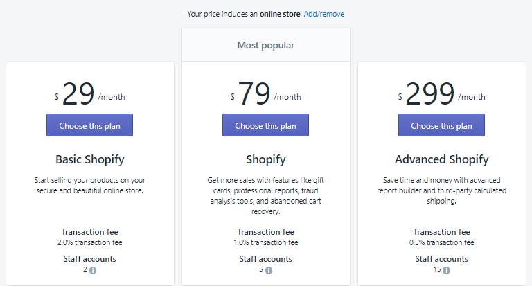 shopify how to see your plan