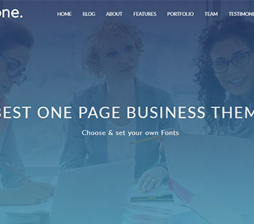 Compact One by CyberChimps [Review]: One Page Business WordPress Theme