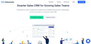 salesmate CRM banner