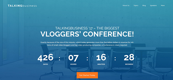Talking Business Free WordPress Theme for meetups