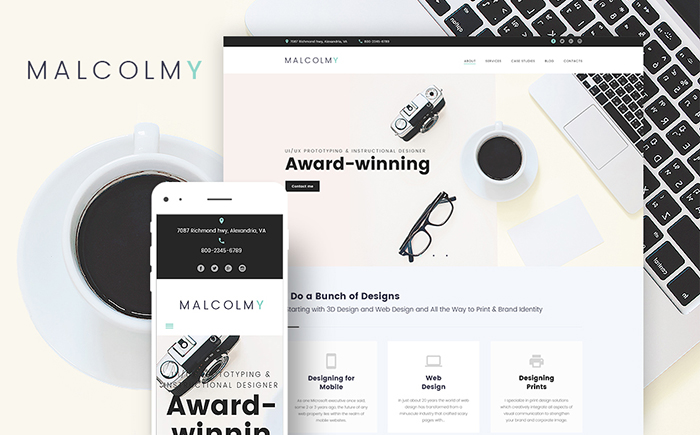 MalcolmY Free WordPress Theme