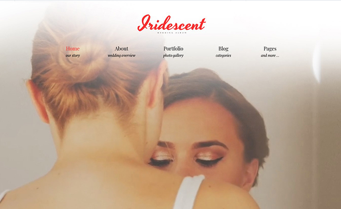 Iridescent Free WordPress Theme