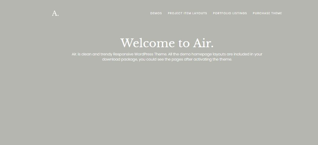 Air WordPress minimal style theme
