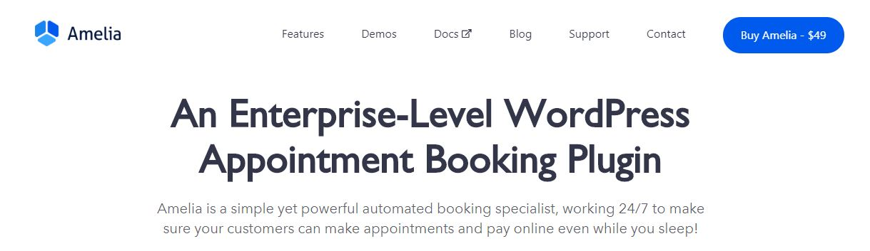 Amelia WordPress booking plugins
