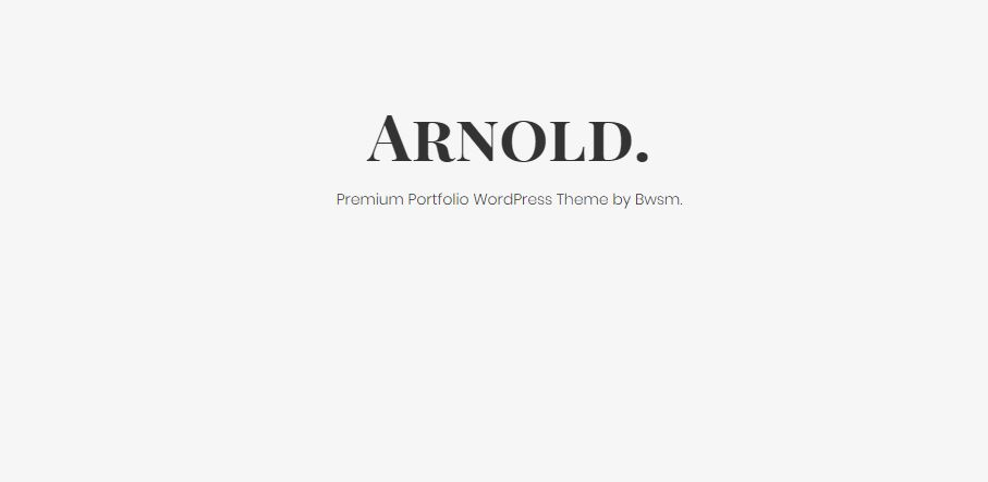 Arnold WordPress minimalist themes