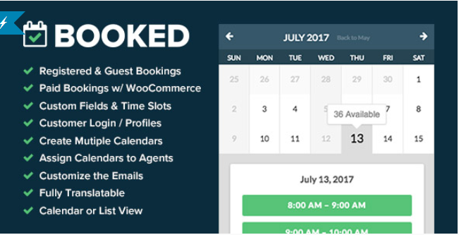 Booked Appointment Booking Plugin for WordPress