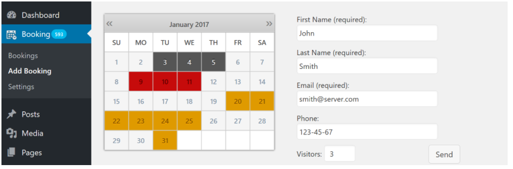 Booking Calendar best appointment scheduling plugin for wordpress