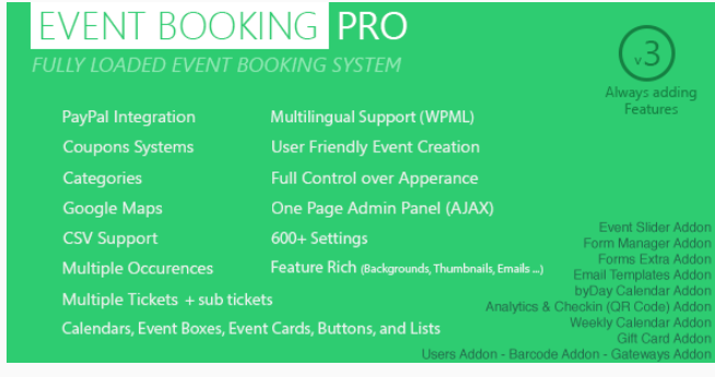 Event Booking Pro WordPress scheduling booking plugin