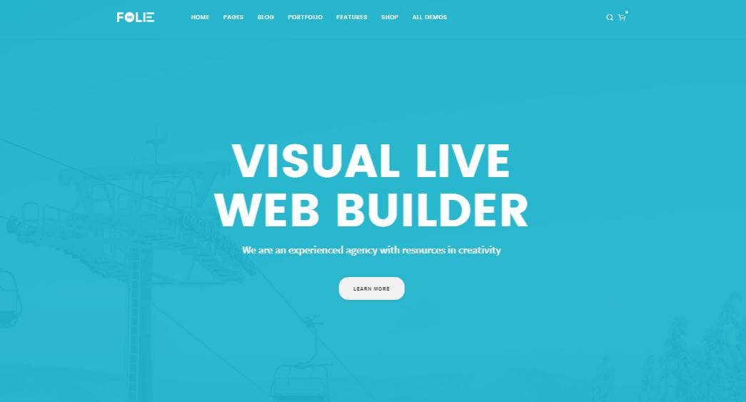 Folie WordPress minimal theme