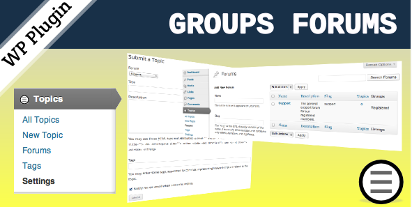 Group Forums discussion Plugin for wordpress