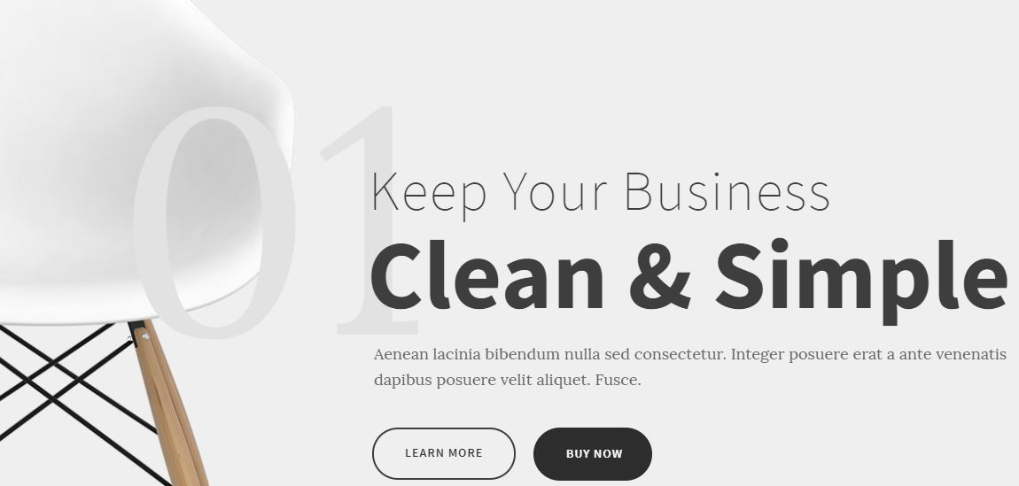 Kleanity Minimalist WordPress theme