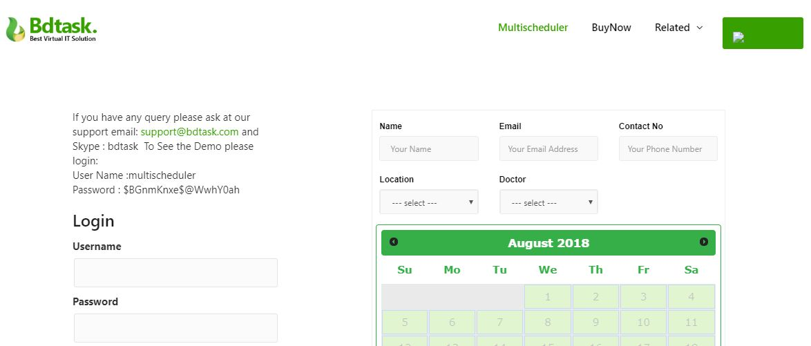 Multi Scheduler WordPress reservation plugin