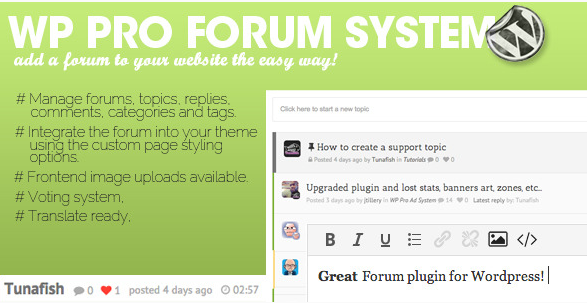 WP Pro Forum System wordpress forum plugins