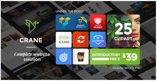 Crane the Responsive WordPress theme